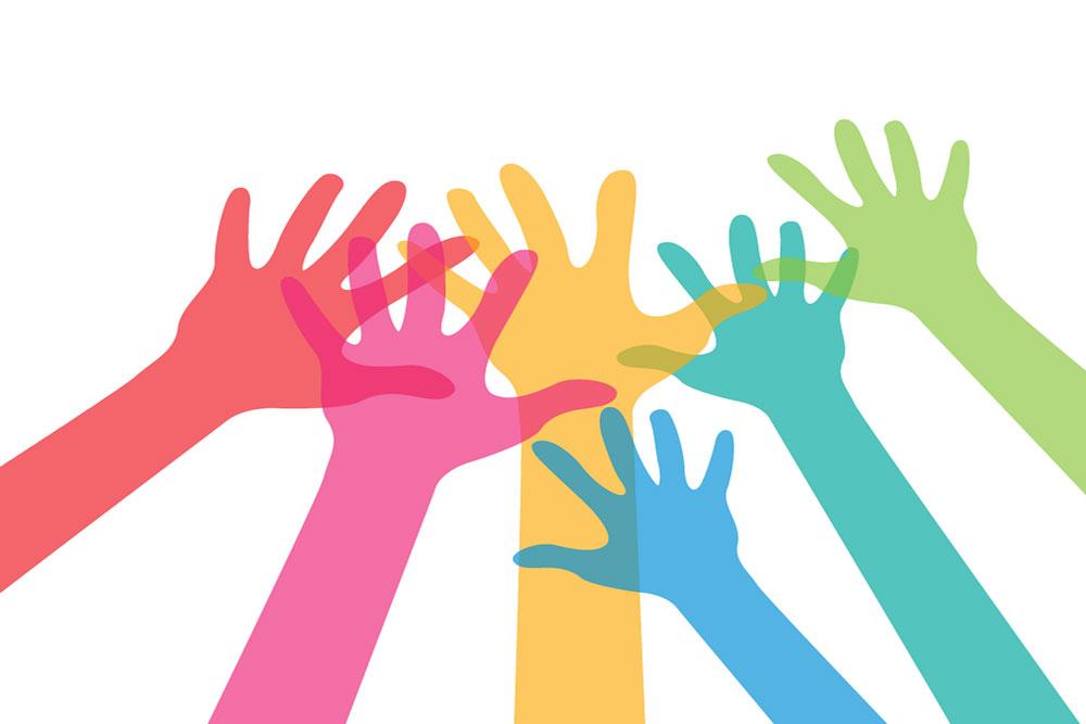 Conseil municipal - Mains tendus en couleur