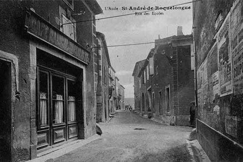 Histoire - photo ancienne de la rue de l'école