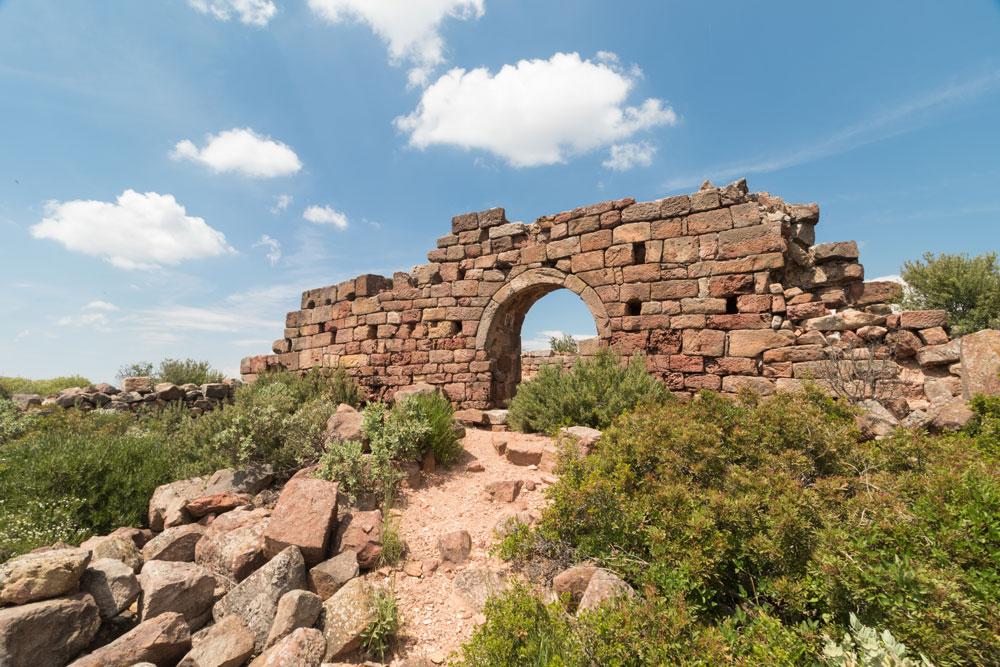 Pinède et sentiers pédestres - Mur en ruine